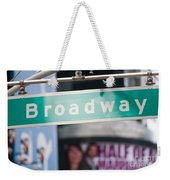 Broadway Street Sign I Weekender Tote Bag