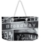 Broadway Street Sign II Weekender Tote Bag