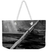 Broken Fence In Morning Light At Yosemite Weekender Tote Bag