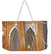 Brooklyn Bridge Arch Weekender Tote Bag