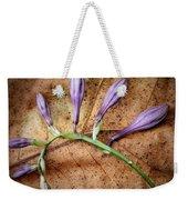 Brown And Purple Weekender Tote Bag