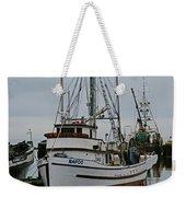 Brown And White Fish Boat Weekender Tote Bag