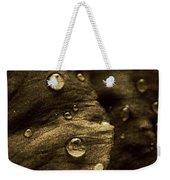 Brown Drops Of Rain Weekender Tote Bag