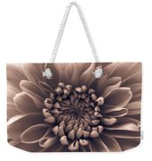 Brown Flower Weekender Tote Bag