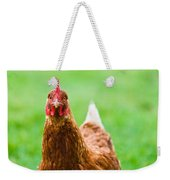 Brown Hen On A Lawn Weekender Tote Bag