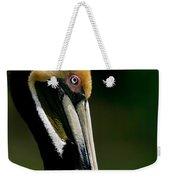 Brown Pelican Profile Weekender Tote Bag