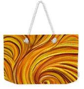 Brown Swirl Weekender Tote Bag