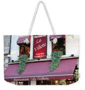 Brussels - Restaurant La Villette With Trees Weekender Tote Bag by Carol Groenen