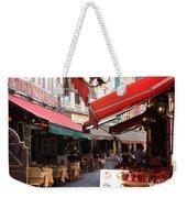 Brussels Restaurant Street - Rue De Bouchers Weekender Tote Bag