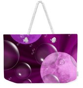 Bubbles And Moons - Purple Abstract Weekender Tote Bag