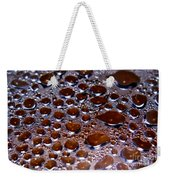 Bubbles Of Steam Cherry Wine Red Weekender Tote Bag