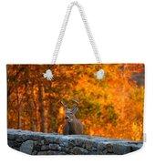 Buck In The Fall 01 Weekender Tote Bag