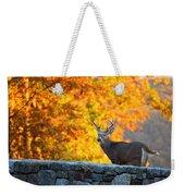 Buck In The Fall 07 Weekender Tote Bag