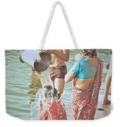 Bucket Wash Weekender Tote Bag
