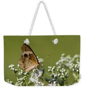 Buckeye Butterfly And Lesser Snakeroot Wildflowers Weekender Tote Bag