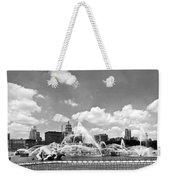Buckingham Fountain In Chicago Weekender Tote Bag