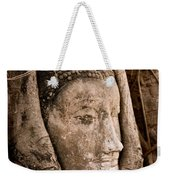Buddha Head Strangled By The Roots  Weekender Tote Bag
