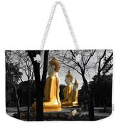Buddha In The Jungle Weekender Tote Bag by Adrian Evans