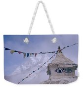 Buddhist Shrine In The Himalayas Weekender Tote Bag