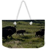 Buffalo Bison Roaming In Custer State Park Sd.-1 Weekender Tote Bag