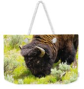Buffalo Grazing Weekender Tote Bag