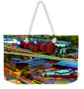 Buffalo New York Aerial View Neon Effect Weekender Tote Bag