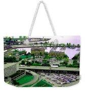 Buffalo New York Waterfront Aerial View Ultraviolet Effect Weekender Tote Bag