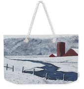 Buffalo River Valley In Snow Weekender Tote Bag