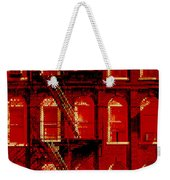 Building Facade In Red And White Weekender Tote Bag