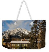 Building On A Cold Sunny Day  Weekender Tote Bag