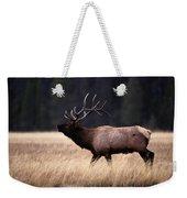 Bull Elk Cervus Elaphus Weekender Tote Bag