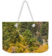 Bull Elk Lake Crusing With Autumn Colors Weekender Tote Bag