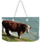 Bull On The Edge Weekender Tote Bag