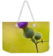Bull Thistle With Bumble Bee Weekender Tote Bag