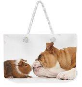 Bulldog & Guinea Pig Weekender Tote Bag
