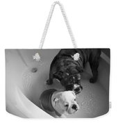 Bulldog Bath Time Weekender Tote Bag