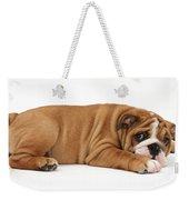 Bulldog Puppy Weekender Tote Bag