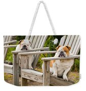 Bulldogs Relaxing At The Beach Weekender Tote Bag
