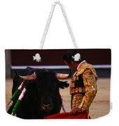 Bullfight Madrid Weekender Tote Bag