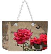 Bumble Bee And Rose Weekender Tote Bag
