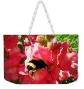Bumblebee And Snapdragon Weekender Tote Bag