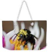 Bumblebee Attacking Flower Weekender Tote Bag