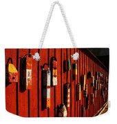 Rockport Buoy Wall - Greeting Card Weekender Tote Bag