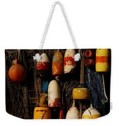 Buoys On Fishing Shack - Greeting Card Weekender Tote Bag