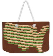 Burger Town Usa Map Brown Weekender Tote Bag