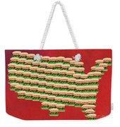 Burger Town Usa Map Red Weekender Tote Bag