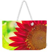 Burgundy Sunflower Weekender Tote Bag