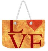 Burning Love Weekender Tote Bag