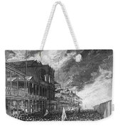 Burning Of Colon, 1885 Weekender Tote Bag
