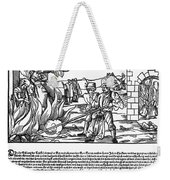 Burning Of Witches, 1555 Weekender Tote Bag